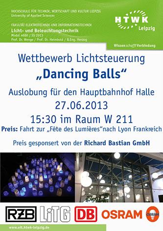 """Wettbewerb Lichtsteuerung """"Dancing Balls"""""""